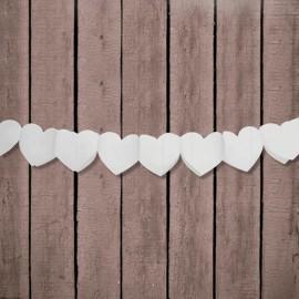Guirlande en Papier en Forme de Coeur 11 cm x 3 mts