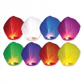 10 Lanternes Volantes Couleurs Variées