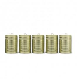 5 Boîtes de Conserve Dorées Pour Mariages 10 cm x 7 cm