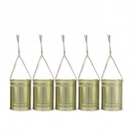 5 Boîtes de Conserve Dorées de Décoration 10 x 7 cm