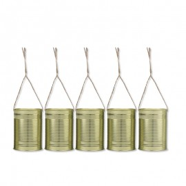 5 Canettes Dorées de Décoration 10 x 7 cm