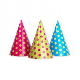 6 Chapeaux à Pois en Papier