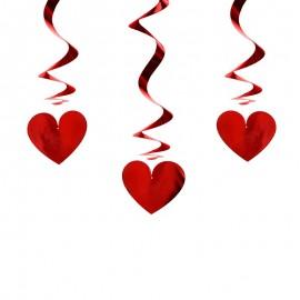 3 Pendentifs en Forme de Coeur