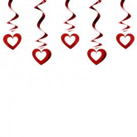 5 Pendentifs Avec Coeurs Perforés
