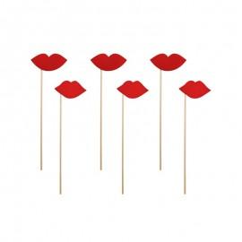 6 Lèvres Rouges Pour Photocall
