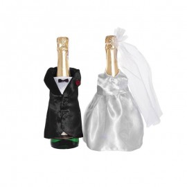 2 Couvercles Pour Bouteille de Champagne Forme Mariés