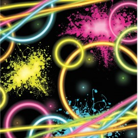 16 Serviettes Glow Party 25 cm