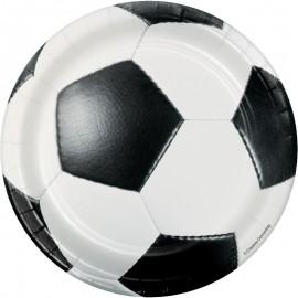 8 Assiettes Football 18 cm