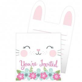 8 Invitations 1 an Lapinou