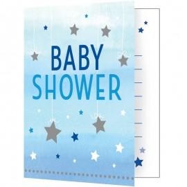 8 Invitations Baby Shower Little Stars