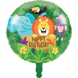 Ballon Helium Animaux de la Jungle