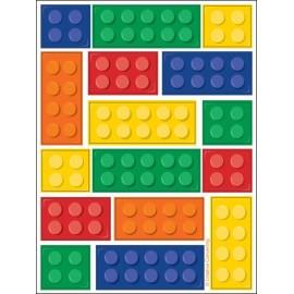 4 Autocollants Lego