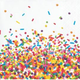 16 Serviettes Sprinkles 25 cm