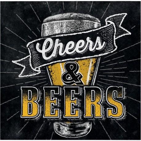 16 Serviettes Fête de la Bière 25 cm