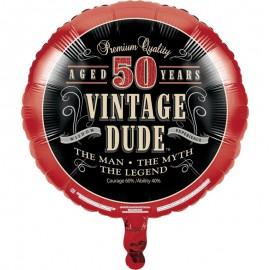 Ballon d'aluminium 50 ans Vintage