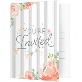 8 Invitations Floral