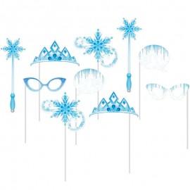 10 Accessoires pour le Photocall thème Flocons de neige
