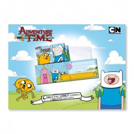 6 Invitations Adventure Time