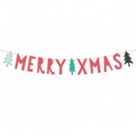 Bannière Merry Xmas 12 x 120 cm