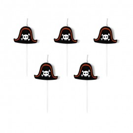 5 Bougies Pirate Party 2 cm