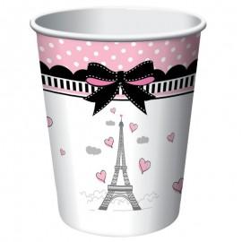 8 Gobelets Paris 266 ml