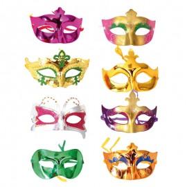 8 Demi-Masques Vénitiens Modèles Variés