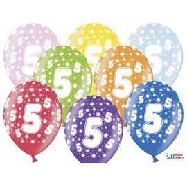 Ballons Chiffre 5 Ronds 32 cm