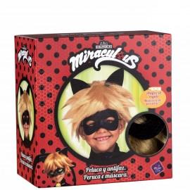 Perruque Cat Noir avec Masque Enfant