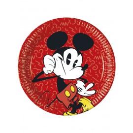 8 Assiettes Mickey Super Cool 23 cm