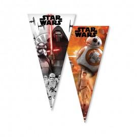 6 Sacs Star Wars Pour Friandises en Forme de Cône
