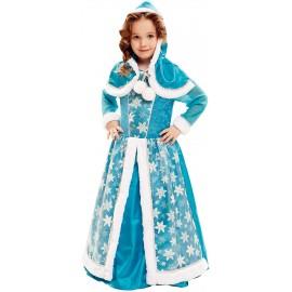 Déguisement de la Reine des Glaces avec Flocons de Neige pour Enfant