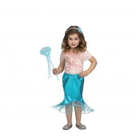 Déguisement de Sirène Tutu Bleu pour Enfant
