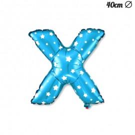 Ballon Lettre X Bleu Avec Etoiles 40 cm