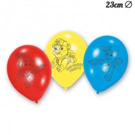 6 Ballons Latex Pat Patrouille 23 cm