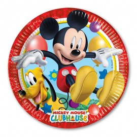 8 Assiettes Mickey Mouse 23 cm