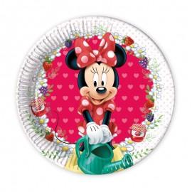 8 Assiettes Minnie Mouse Jardin 20 cm