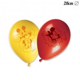 8 Ballons Mickey Mouse 28 cm