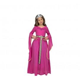 Déguisement de Princesse Médiévale Rose Enfant