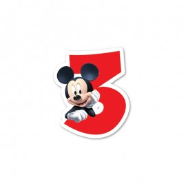 Bougie nº3 Mickey Mouse