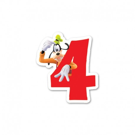 Bougie nº4 Mickey Mouse