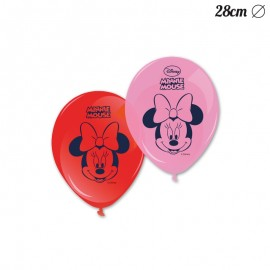 8 Ballons Minnie Mouse 28 cm