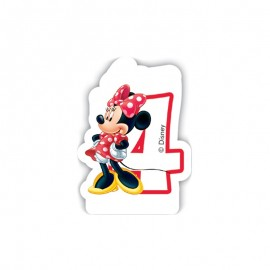 Bougie nº4 Minnie Mouse