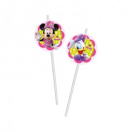 6 Pailles Medaillon Minnie Rose