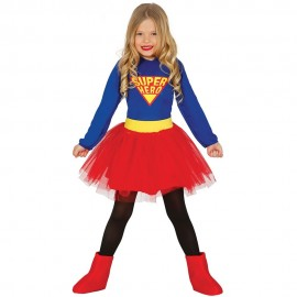 Déguisement de Super Héroïne avec Robe pour Fille