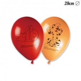 8 Ballons Winnie l'Ourson 28 cm
