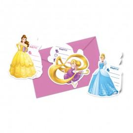 6 Invitations Princesse Disney