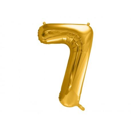 Ballon Mylar Numéro 7 81 cm