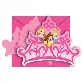 6 Invitations Princesse de Rêve Disney