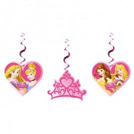 3 Pendentifs de Princesse de Rêve Disney