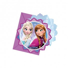 6 Cartons d'Invitation Reine des Neiges